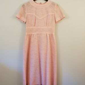 Vintage pink lace dress Romantic fit and flare